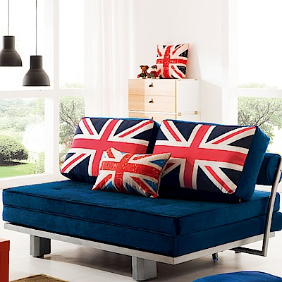 品家居 泰蔓莎絲絨布拉合式沙發床-150x100x70cm-免組