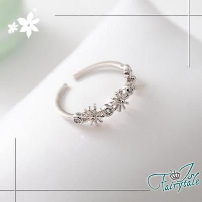 iSFairytale伊飾童話-雛菊指環-花朵開口戒指-銀