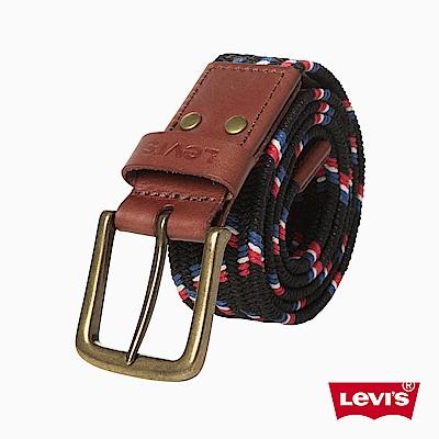 皮帶 男款 時尚針扣 條紋編織 - Levi
