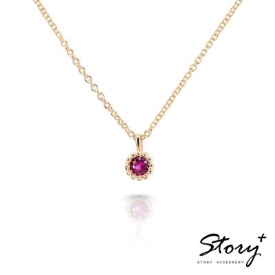 STORY-Star晶鑽系列-TwinkleStar 純銀晶鑽項鍊(黃K金)