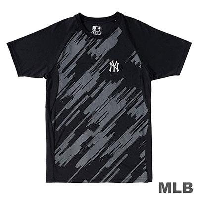 MLB-紐約洋基隊科技感印花快排T恤-黑 (男)