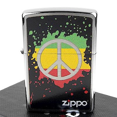 ZIPPO 美系~Peace Splash-和平標誌圖案打火機