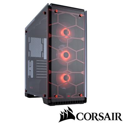 CORSAIR 570X RGB電腦機殼-紅