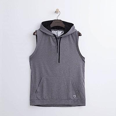 Hang Ten - 男裝 - Thermo Contro無袖連帽T恤-灰色