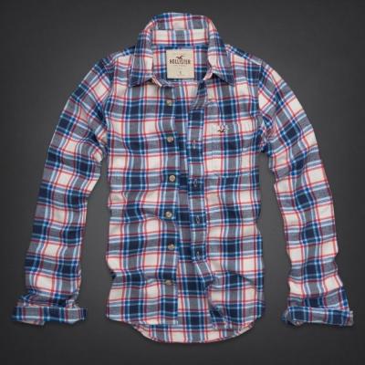 Hollister HCO 長袖 襯衫 藍色 0155