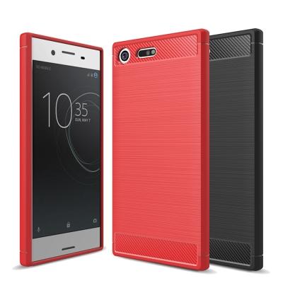 揚邑 Sony XZ Premium 5.5吋 碳纖維拉絲紋軟殼散熱防震抗摔手機殼