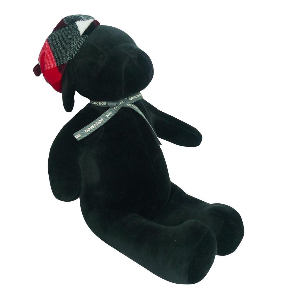 《YVONNE》乖乖坐姿狗玩偶(黑色)