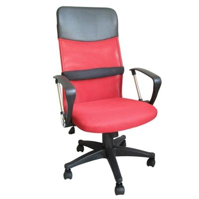 Dr.DIY D型扶手(透氣網布)高背主管椅/辦公椅/電腦椅(紅色)