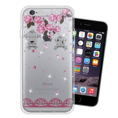 WT iPhone6s / 6 Plus 5.5吋 奧地利水晶彩繪空壓手機殼(璀...