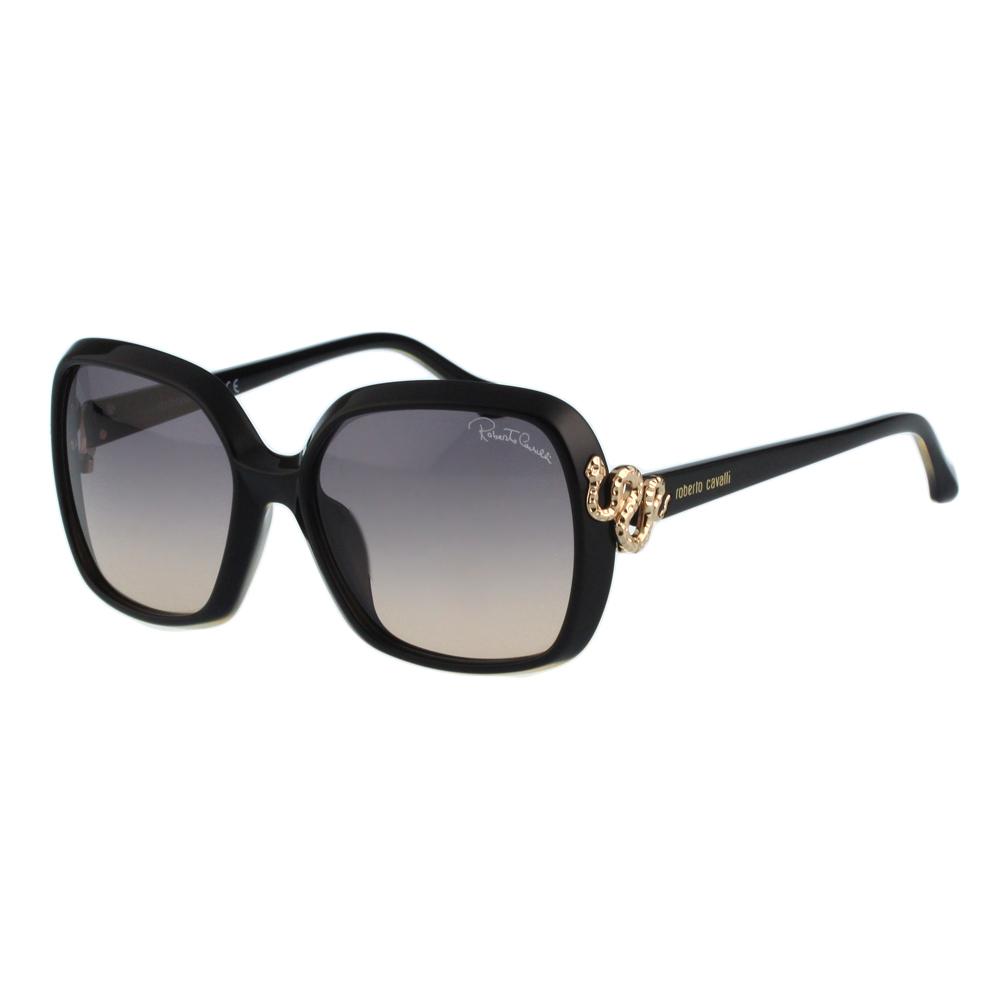 Roberto Cavalli 方框 蛇造型太陽眼鏡(黑色)