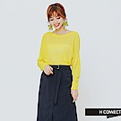 H:CONNECT 韓國品牌 女裝 -高質感透氣薄毛衣-黃 - 動態show