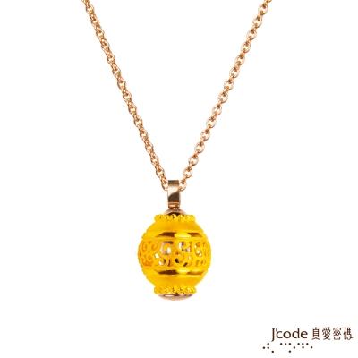 J code真愛密碼金飾 金莎黃金墜子 送玫瑰鋼項鍊