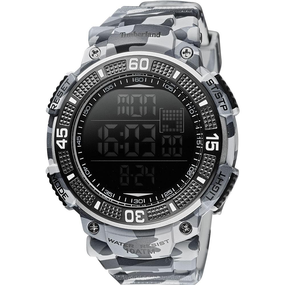 Timberland CADION系列多功能數位腕錶-迷彩灰51mm
