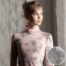 羅絲美 - 玫苜傳情高領長袖居家衛生衣 (浪漫灰)