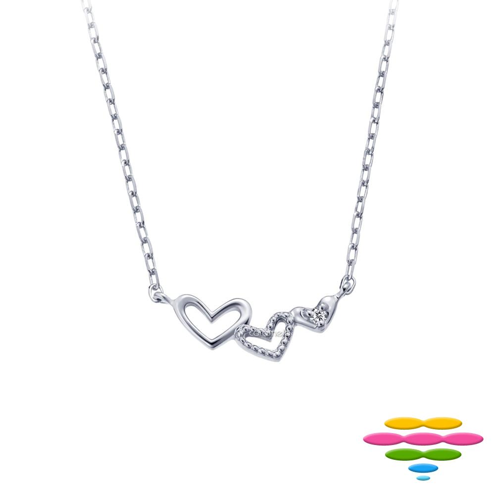 彩糖鑽工坊 日本10K 愛心鑽石項鍊 小確幸系列