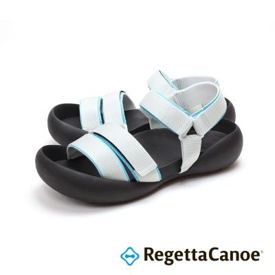 RegettaCanoe-三條滾邊寬帶 可調式樂步鞋-淡灰色