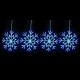 聖誕燈裝飾燈LED燈四雪花片造型燈(192燈/藍白光)(附控制器跳機) product thumbnail 1