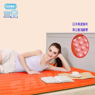 日本SANKI 獨立氣泡發熱舒適保暖墊(時尚橙) 雙人 140x200 cm 1入