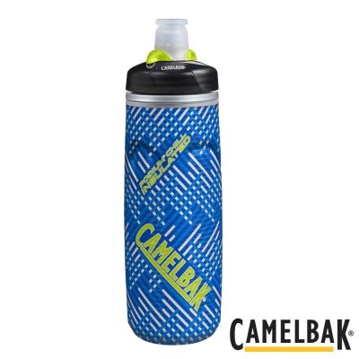 《CAMELBAK》保冷噴射水瓶 飛速藍 620ml(CB1300403062)