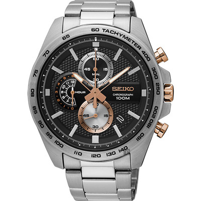 SEIKO Criteria 競速品味運動計時腕錶(SSB281P1)x44mm