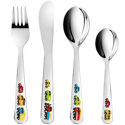 TESCOMA Bam兒童餐具4件組(汽車)