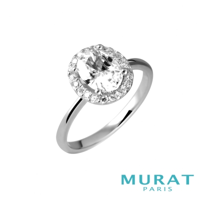 MURAT PARIS米哈巴黎 環繞滿鑽橢圓戒指