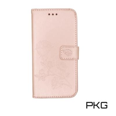 PKG Apple IPhone 7/8 Plus 側翻式皮套-精選系列-壓紋-...