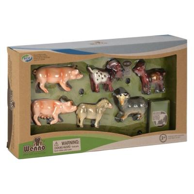 Wenno動物模型 農場系列 羊&豬隻6入 (3Y+)