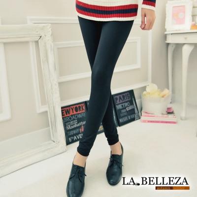 La Belleza時尚美腿彈性厚棉內搭褲