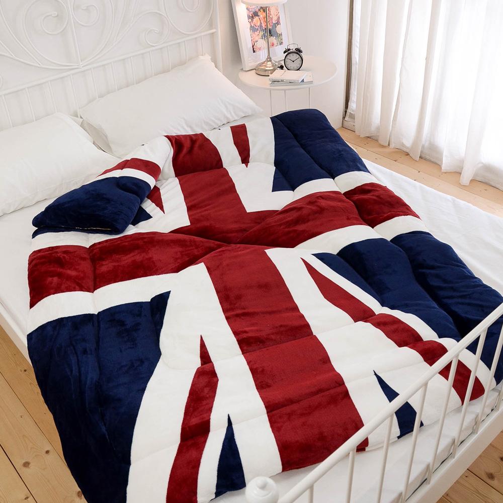 絲薇諾 英國旗 雙面法蘭絨被/單人-140×195cm