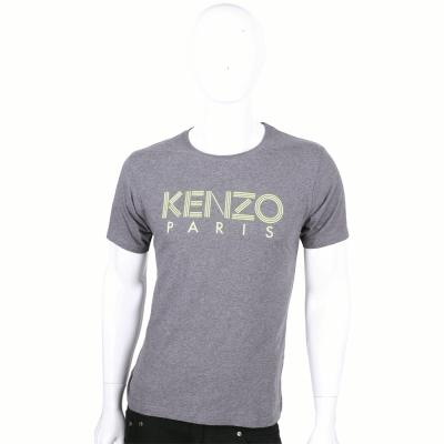 KENZO 灰色字母LOGO短袖上衣
