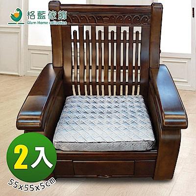 格藍傢飾 皇冠記憶立體坐墊-銀( 2 入)
