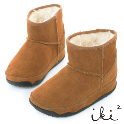 iki2網友最推薦-魅力機能性美腿短筒雪靴-奶茶棕