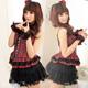 【蘿莉朵】搖滾甜心‧蓬裙格紋角色制服 (M碼
