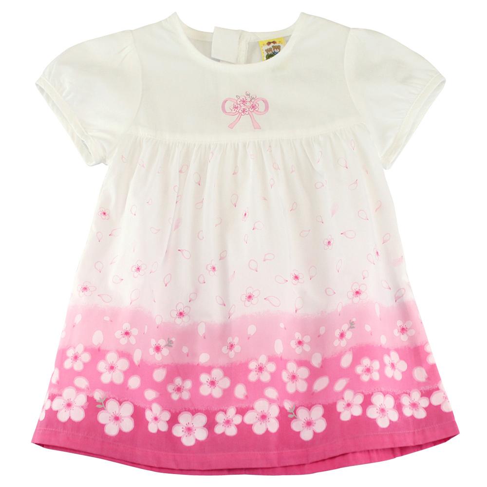 愛的世界 MYBABY 四月雪純棉拉鍊泡泡袖洋裝/4~6歲