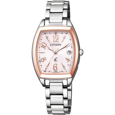 CITIZEN xC 憶戀梵蒂岡電波時計腕錶-ES9390-57W-25X23mm