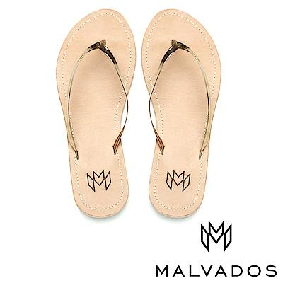 【Malvados 魅凡朵】人字拖 Lux Leatherr 《鍍金皮革》