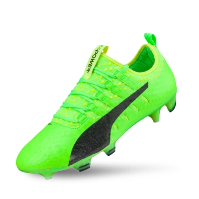 PUMA evoPOWER Vigor 1 FG 男性足球運動鞋-蜥蜴綠