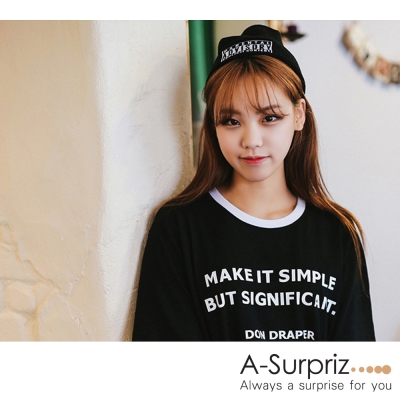 A-Surpriz-ADVISORY徽章反摺毛線帽-黑