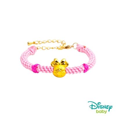 Disney迪士尼金飾 黃金編織手鍊-平安結美妮款