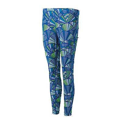 【Wildland 荒野】女彈性時尚印花內搭褲花藍