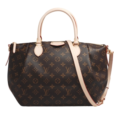 LV M48814 經典Monogram TURENNE MM 手提/斜背水餃包(中)
