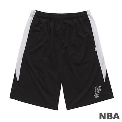NBA-聖安東尼奧馬刺隊LOGO印花短褲-黑 (男)