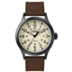 TIMEX Expedition超越巔峰登山探險腕錶-米白面x咖啡錶帶/40mm product thumbnail 1