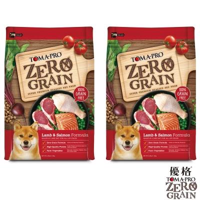 TOMA-PRO 優格 天然零穀食譜 全齡犬 敏感配方(羊肉+鮭魚)15磅X2包