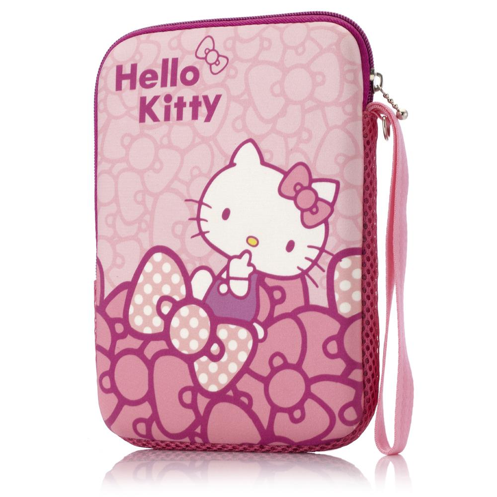 Hello Kitty 7吋平板保護袋-蝴蝶結粉