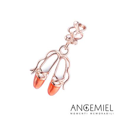 Angemiel安婕米串珠 925純銀吊飾 Dream童話系列 芭蕾舞鞋