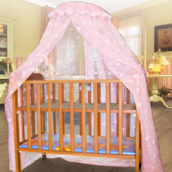 【凱蕾絲帝】100%台灣製造~嬰兒床架專用針織嬰兒蚊帳(雙色可選)