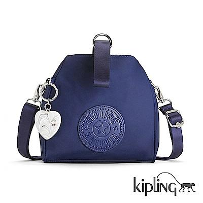 Kipling 手提包 太空藍素面-小