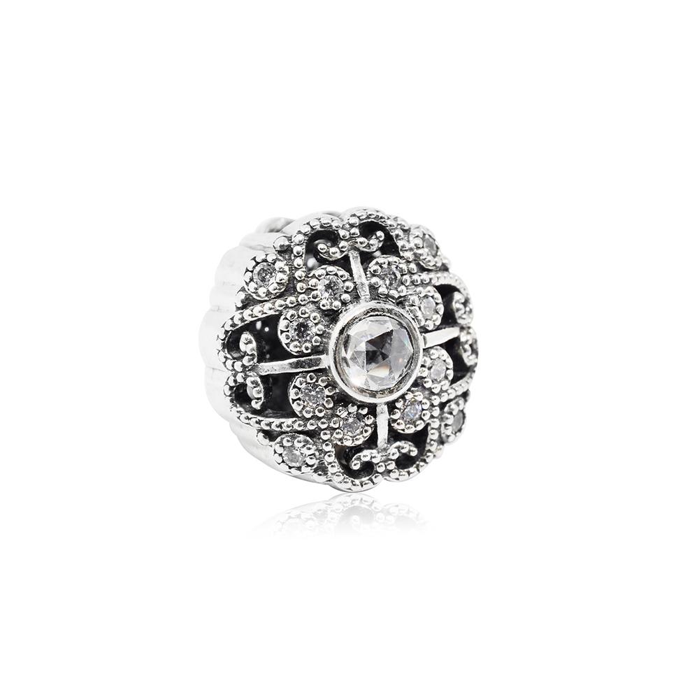 Pandora 潘朵拉 魅力花卉童話鑲鋯 純銀墜飾 串珠